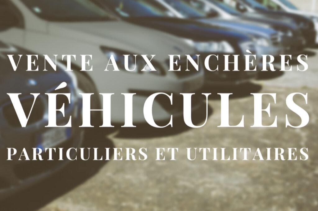 vente aux enchères véhicules pour particuliers et utilitaires